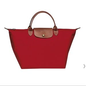 """Longchamp Hand Bag """"Le Piage"""" in Red♥️"""